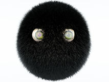 Ball of wool. With eyes Royalty Free Stock Photo