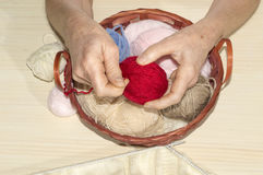 Ball of wool Royalty Free Stock Photos