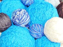 Ball of wool for knitting Royalty Free Stock Images