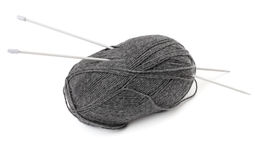 Ball of wool and knitting needles Royalty Free Stock Photography
