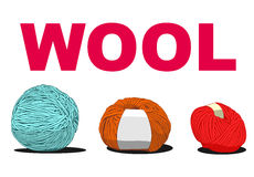 Ball of wool sign illustration Stock Photography