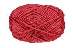 Ball of woolen thread on a white background Royalty Free Stock Images