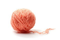 Ball of woolen threads Royalty Free Stock Images