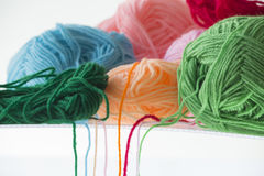 Ball of yarn. On white background Stock Images
