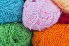 Ball of yarn. On white background Royalty Free Stock Photography
