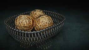 Ball of yarn gold. Royalty Free Stock Photography