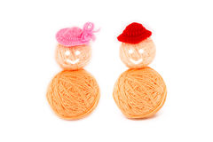 Ball of yarn. have a hat. Royalty Free Stock Photo