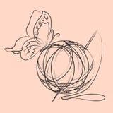 Ball of yarn Royalty Free Stock Image