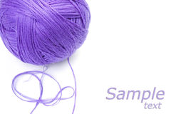 Ball of yarn purple color Stock Images