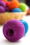 Ball of yarn to crochet Royalty Free Stock Photos