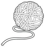 Ball of yarn vector outline. Illustration Stock Photography