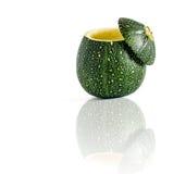 Ball-Zucchini der Höhlen-acht Stockfoto