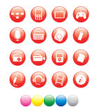 ball03 handlu ikony czerwień Obraz Stock