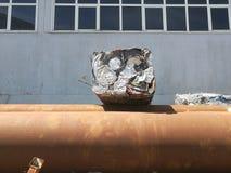 Balla di alluminio riciclata Immagine Stock