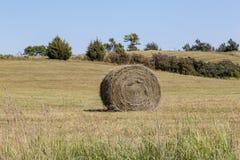 Balla di fieno sull'azienda agricola fotografia stock libera da diritti