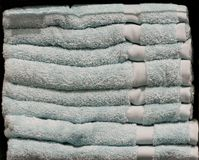 Balla di Pale Blue Towels fotografie stock libere da diritti