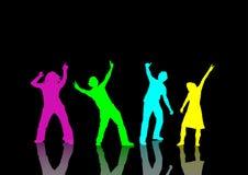 Ballando ad un partito Fotografia Stock