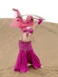 Ballando al deserto con il sabre Fotografia Stock Libera da Diritti