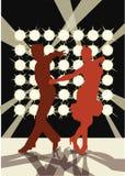 Ballando all'indicatore luminoso Fotografia Stock Libera da Diritti