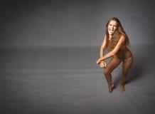Ballando in bikini fotografia stock libera da diritti