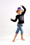 Ballando con un cappello a cilindro Fotografia Stock Libera da Diritti
