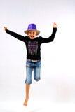 Ballando con un cappello a cilindro Immagini Stock