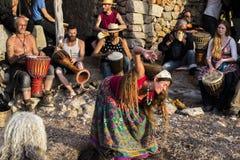Ballando in Ibiza Fotografie Stock Libere da Diritti