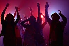 Ballando nel club Fotografia Stock