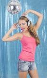 Ballando nella discoteca Immagini Stock