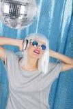 Ballando nella discoteca Fotografia Stock Libera da Diritti