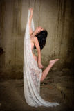 Ballando nella sporcizia Fotografia Stock