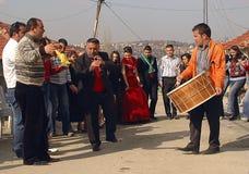 Ballando nella via Immagine Stock Libera da Diritti
