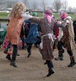 Ballando per la gioia Fotografia Stock
