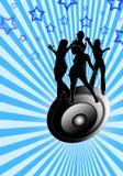 Ballando su un altoparlante fotografie stock libere da diritti