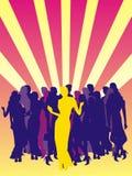 Ballando su un partito Fotografia Stock Libera da Diritti