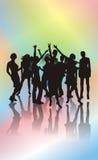 Ballando su un partito royalty illustrazione gratis