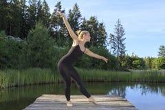 Ballando su una pera Fotografia Stock