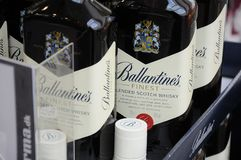 BALLANTINES FINEST SCOTCH WHISKY DENMARK. Copenhagen /Denmark /20 .February.2018_ .Ballantines finest schotch whisky .        Photo.Francis Joseph Dean / Royalty Free Stock Photo