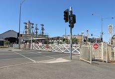 Ballarat火车站,打开1862年4月11日,有最大生存连结的摇摆式弹簧门在维多利亚 免版税库存图片