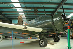 The Ballarat Aviation Museum (1984) is home to many aircraft including this Australian designed and built Wirraway Royalty Free Stock Photos