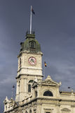 Ballarat historic architecture. Clock tower in the afternoon light royalty free stock photography