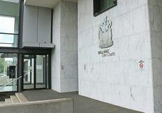 Ballarats domstolar för lag som $30 miljoner bygger (2000) integrerar en central polisstation royaltyfri bild