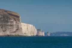 Ballard Cliff und alter Harry Rocks, Insel von Purbeck Stockbilder