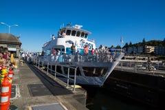 Ballard Lock Argosy Cruise Ship Imagen de archivo libre de regalías