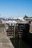 Ballard Lock Gate Closed Royalty-vrije Stock Afbeelding