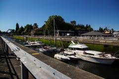 Ballard Lock View From Railing Stock Photography