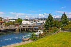 Ballard Locks a Seattle Fotografia Stock