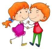 Ballare degli amanti illustrazione vettoriale