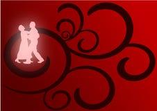 Ballare degli amanti illustrazione di stock