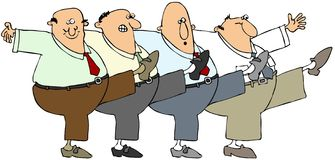 Ballare degli uomini anziani Immagini Stock Libere da Diritti